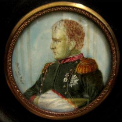 Miniature Portrait De l'Empereur Napoléon Ier Avec Légion d'Honneur 19éme