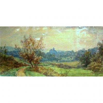 Watercolor Artist Bisontine Cécile Pellissier Early Twentieth
