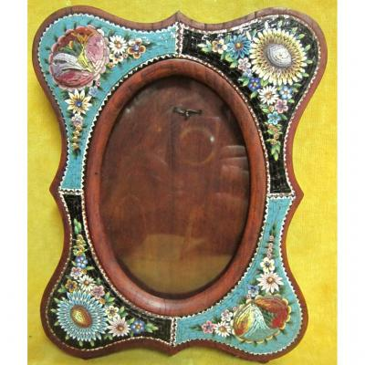 Frame St Lxv Micromosaic Flowers Italy 19th