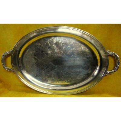 Oval Serving Dish Silver Metal Engraved St Lxv Brand Oneida Sylversmiths