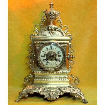 Gilt Bronze Pendulum St Renaissance Napoleon III 19th S.marty Bronze Medal 1850-1880