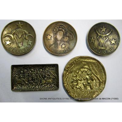 Coupelles Bronze Max Le Verrier
