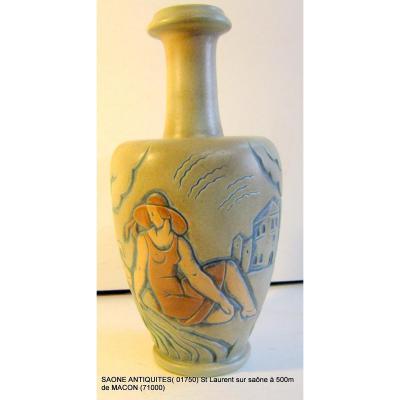 Vase De Mougin Nancy A. Legrand Art Deco 30