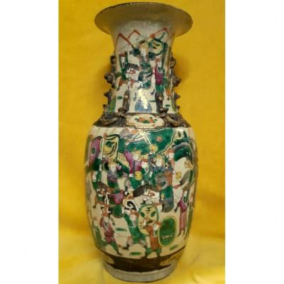 Large Chinese Porcelain Vase From Nanking Imperial Period Qing Dynasty (1636-1912)