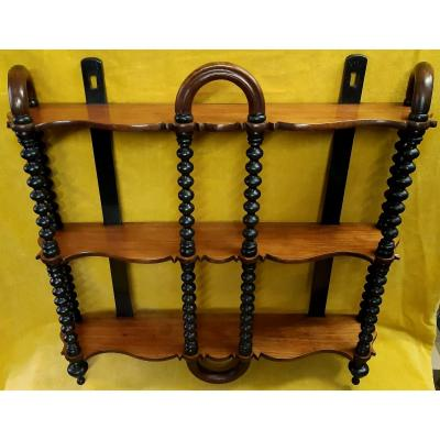 Wall Or Tabletop Shelf 3 Levels Fretwork Shapes St Lxv 19th Napoleon III