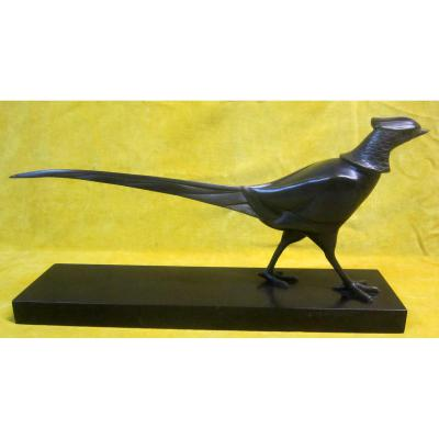 Bronze Animalier  Art Déco Coq de Bruyére ou Faisan