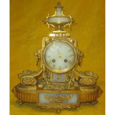 Pendulum Lxvi Style Gilt Bronze And Marble