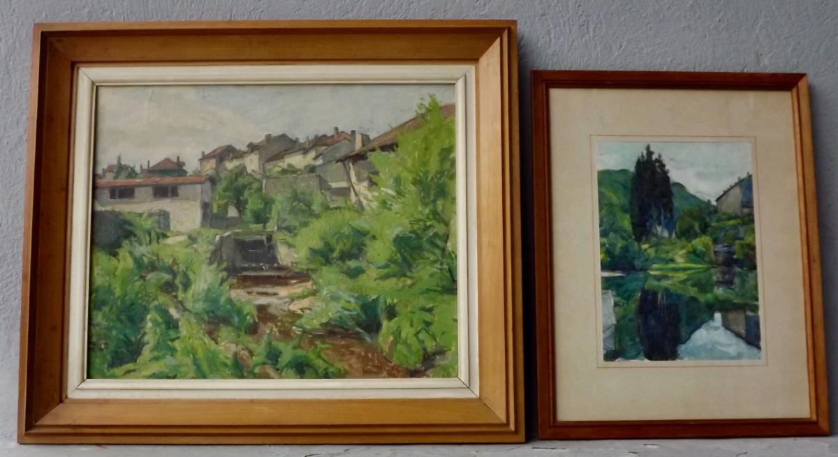 '' Plombières-les-bains '' Auguste Vallin