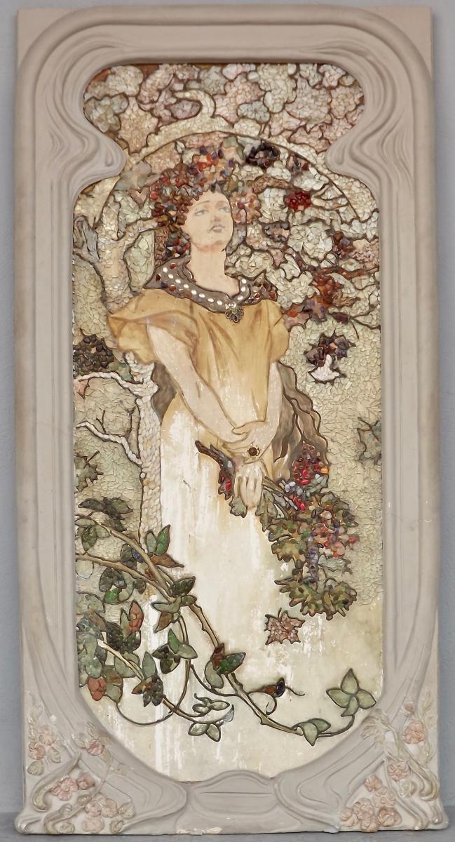 Art-nouveau Decorative Panel