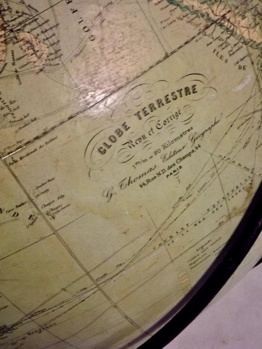 Globe terrestre de parquet-photo-4