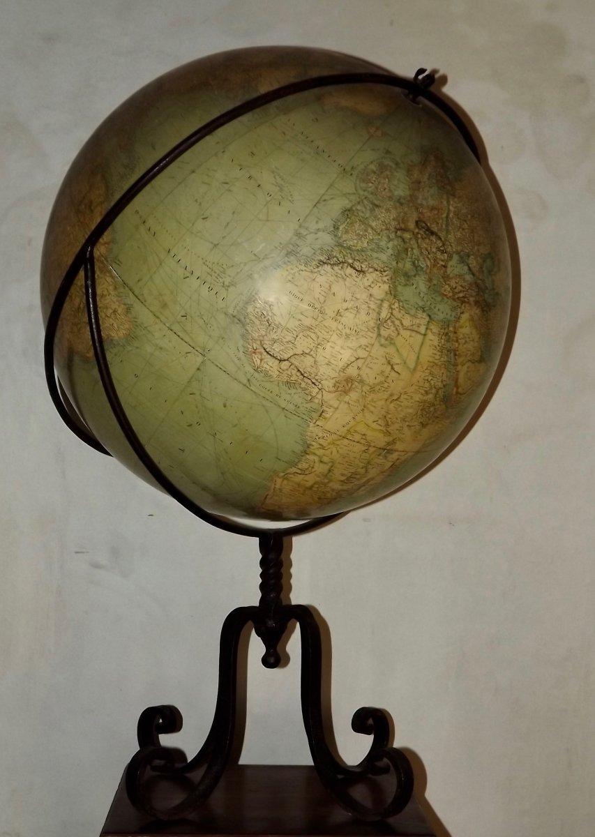 Globe terrestre de parquet-photo-2