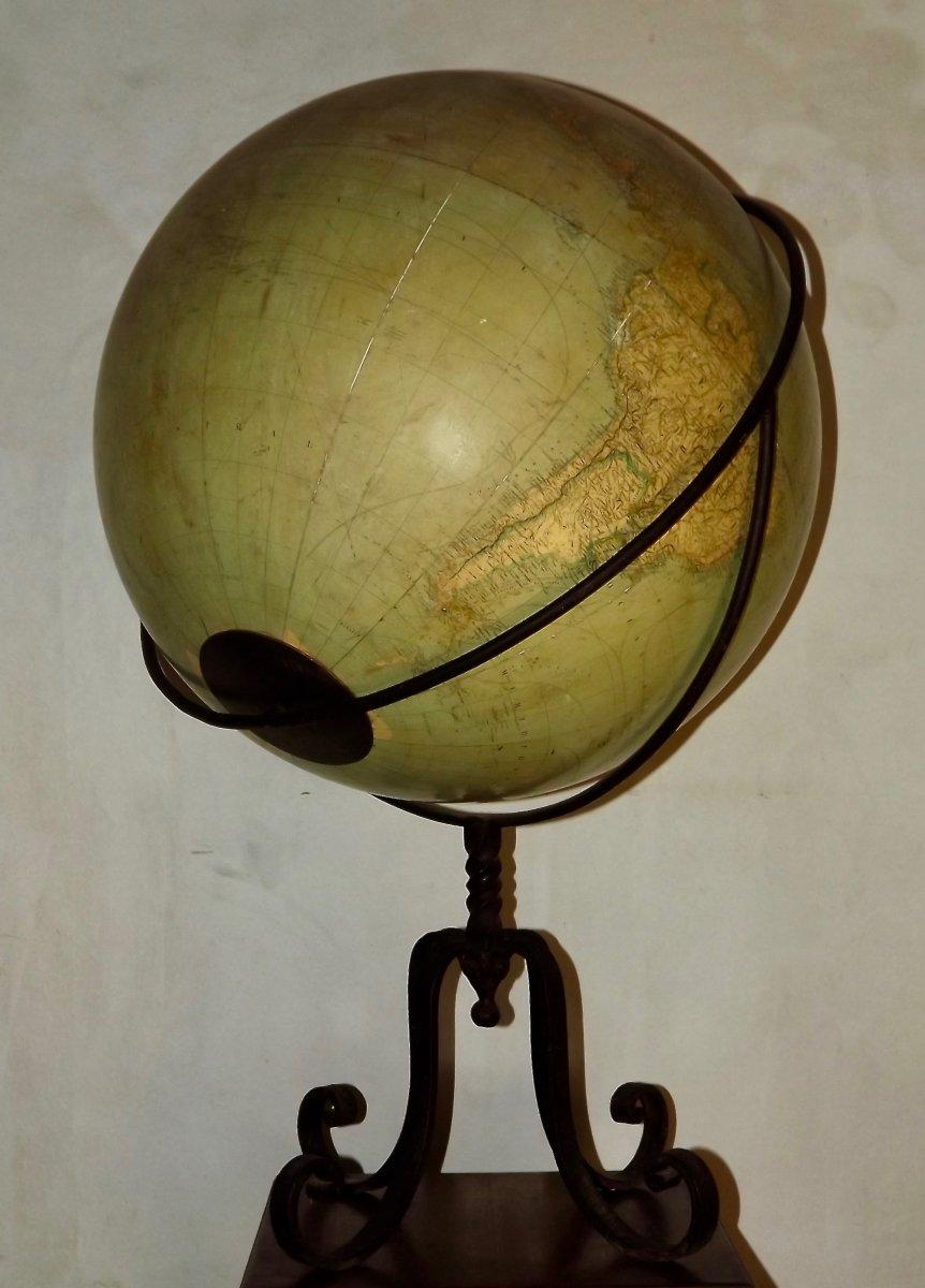 Globe terrestre de parquet-photo-3