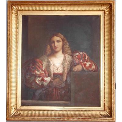 Portrait d'une belle Italienne