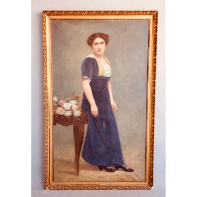 Large Woman Portrait In Full Length