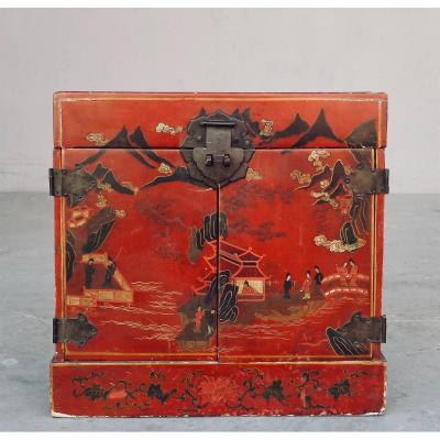 Liquor Cabinet In Chinese Lacquer