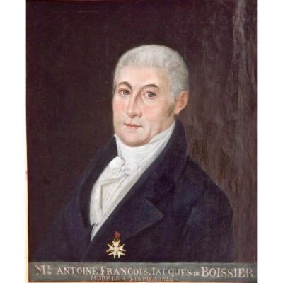 Portrait d'homme à la légion d'honneur XIXe