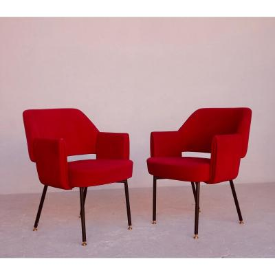 Pair Of Armchairs By Marc And Pierre Simon