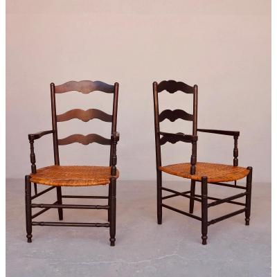 Paire de fauteuils Provençaux fin XIXe