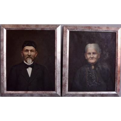 Pair Of Portraits Of L. Jacot-guillarmod