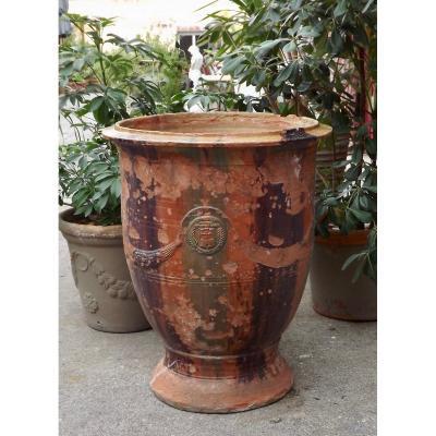 Vase d'Anduze XIXe