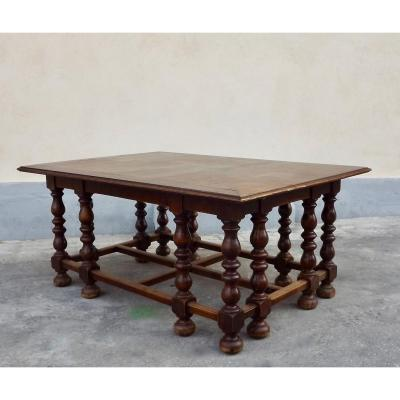 Large 19th Century Library Table