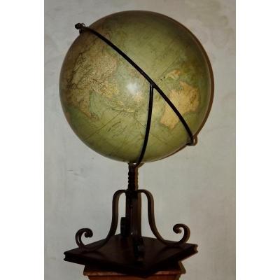 Globe terrestre de parquet