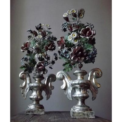 Pair Of Bouquetières Early 19th Century