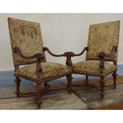 Pair Of Regence Armchairs