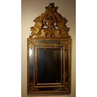 Miroir doré de style LXIV