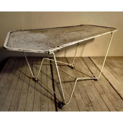 Table basse roulante 1960
