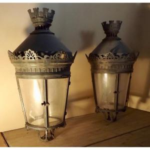 Paire de lanternes ancienne