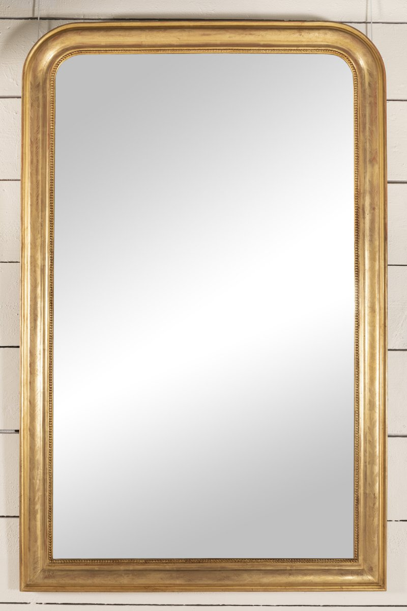 Very Large Gilded Wood Mirror H.200 L.128