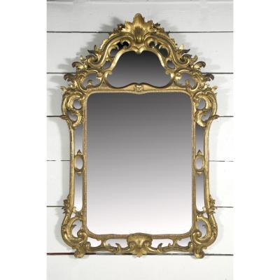 Grand Miroir Provençal Bois doré  H. 156 L. 104