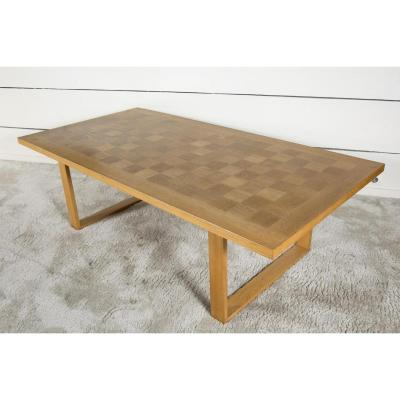 Grande Table Basse Scandinave En Chêne L.160cm