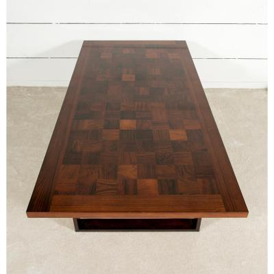 1960 Scandinavian Coffee Table In Rosewood L.140 Cm