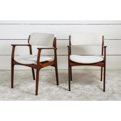 1960 Pair Of Scandinavian  Rosewood Armchairs