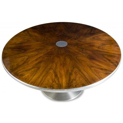 Round Table In Rosewood 1970 Diam 140 Cm
