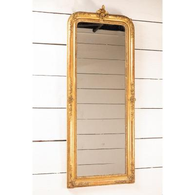 Miroir En Bois Doré H.173 Cm L.68 Cm