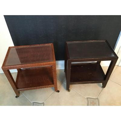 2  petites tables téléphone KARL SPRINGER