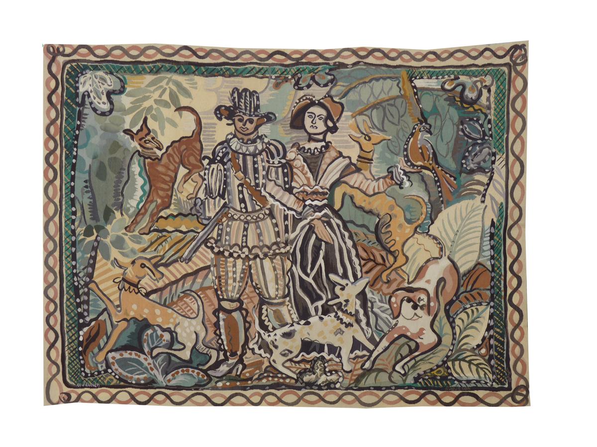 André Derain-scène De Chasse-tapisserie d'Aubusson