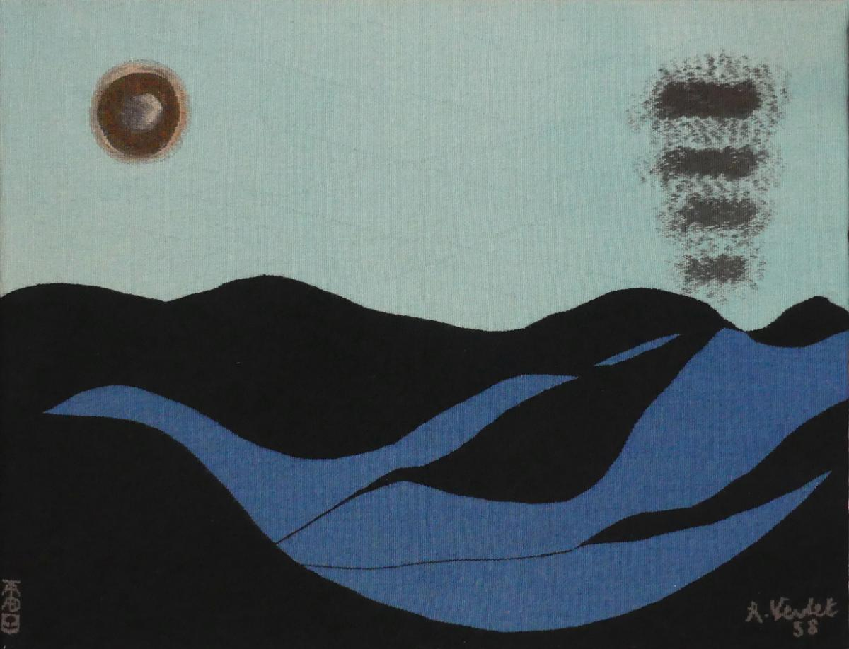 Bottom Swell Of The Summer-andré Verdet-aubusson Tapestry