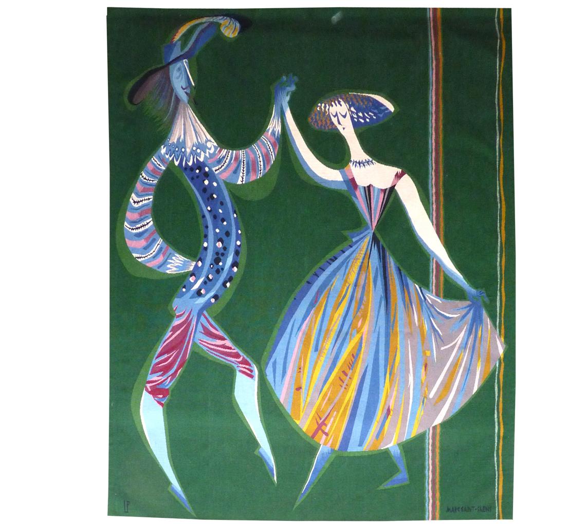Marc Saint Saëns -les Comédiens -tapisserie d'Aubusson