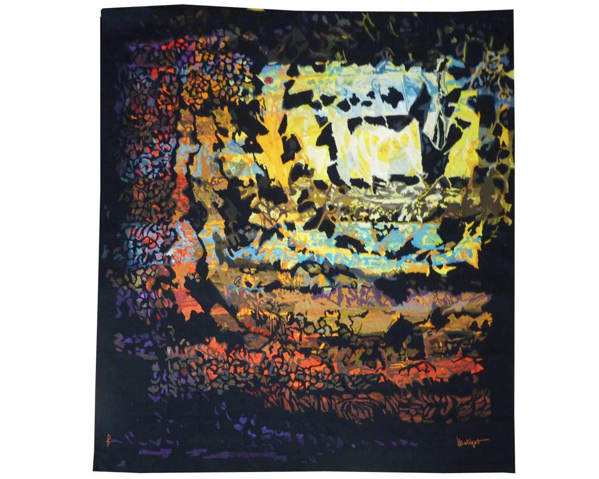 Mathieu Matégot-soleil Carré -tapisserie d'Aubusson