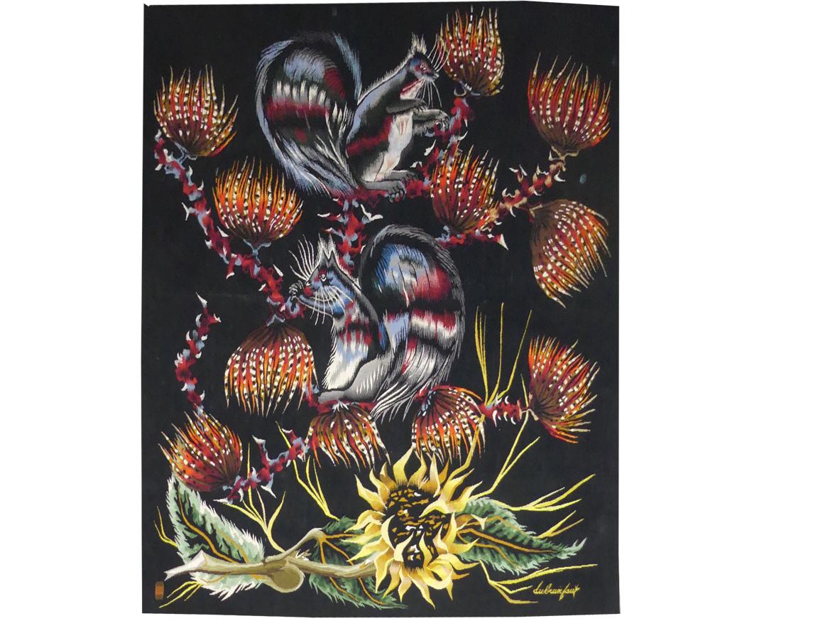 Edmond Dubrunfaut-feux Du Soir-tapisserie d'Aubusson