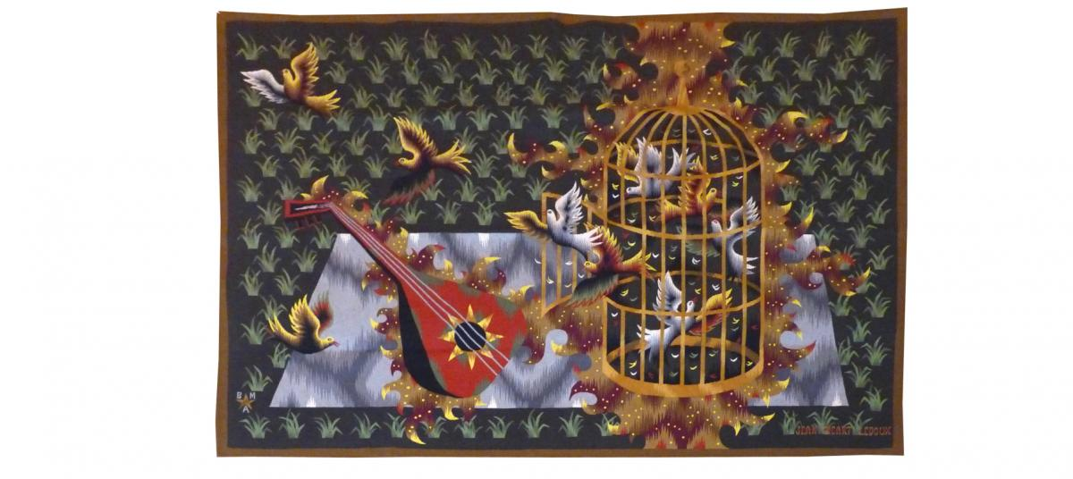 Jean Picart The Sweet - The Lute And The Doves - Aubusson Tapestry