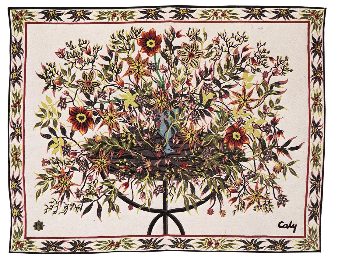 Odette Caly- La Table De Jardin- Tapisserie d'Aubusson