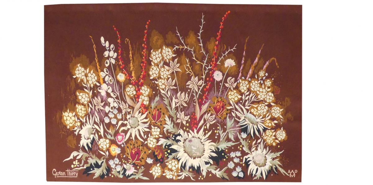 Gaston Thiery- Flore Des Baronnies- Aubusson Tapestry