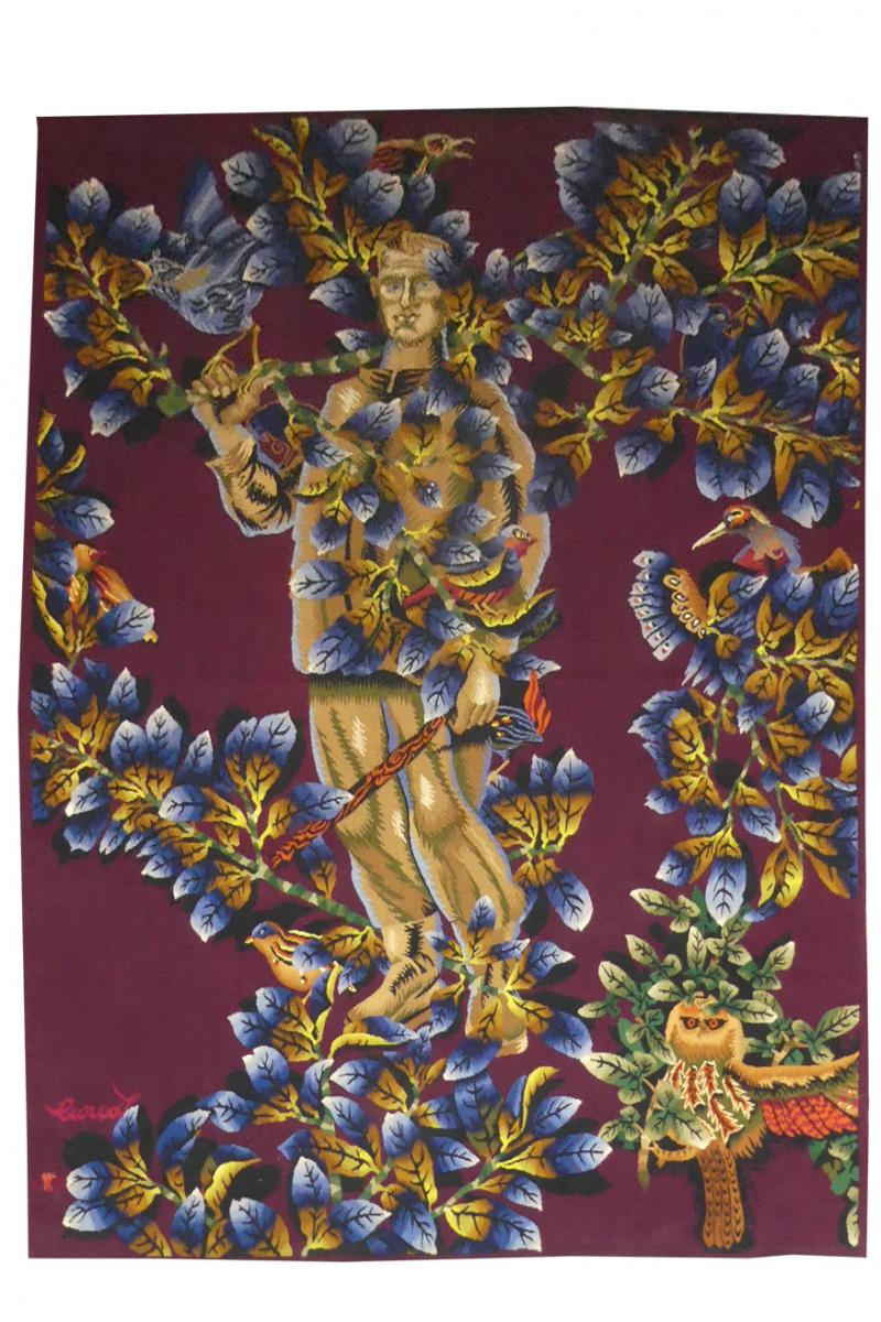 Jean Lurcat - The Man With Birds - Aubusson Tapestry