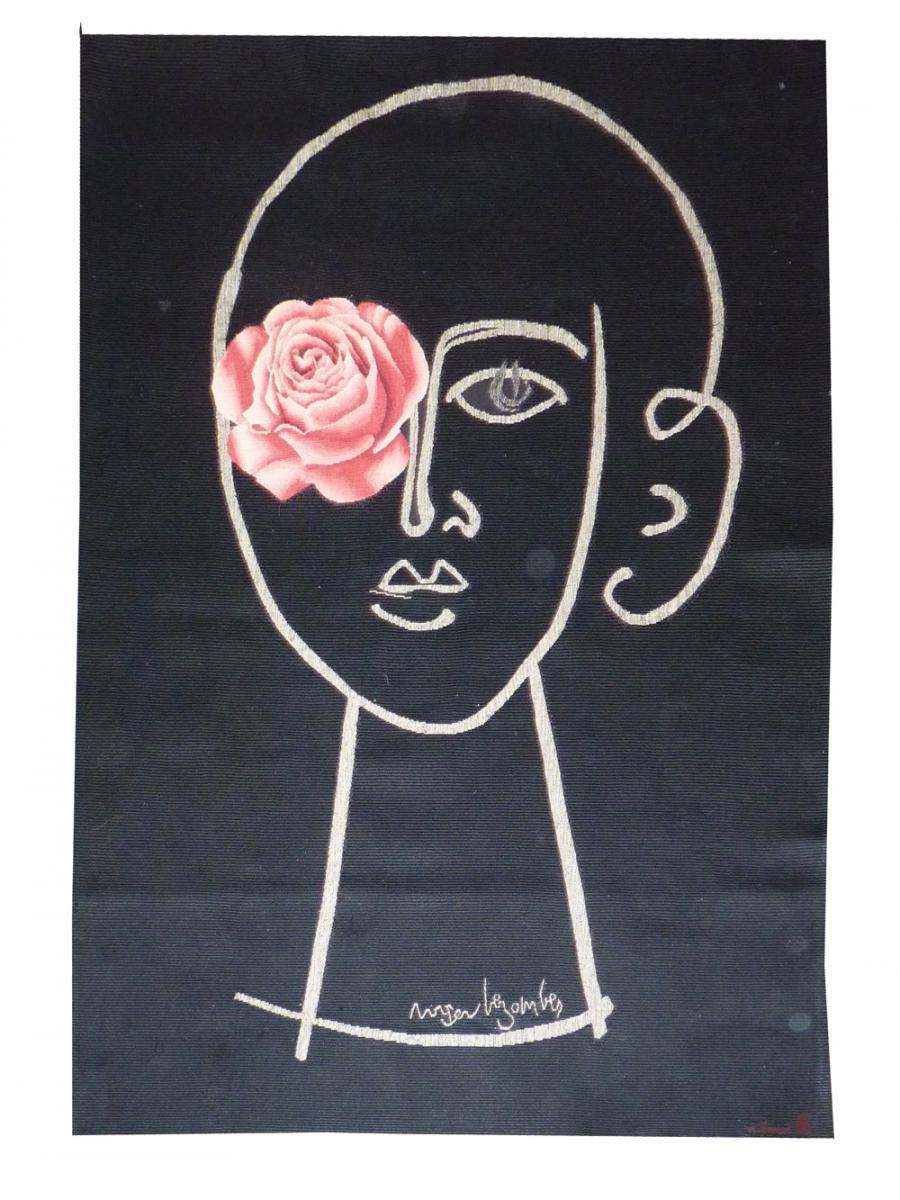 Roger Bezombes- La Femme Fleur-tapisserie d'Aubusson