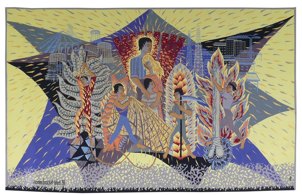 Simone Brachet-labat - Allégorie Des Métiers-tapisserie d'Aubusson